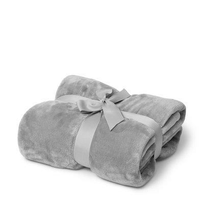 grå pläd present